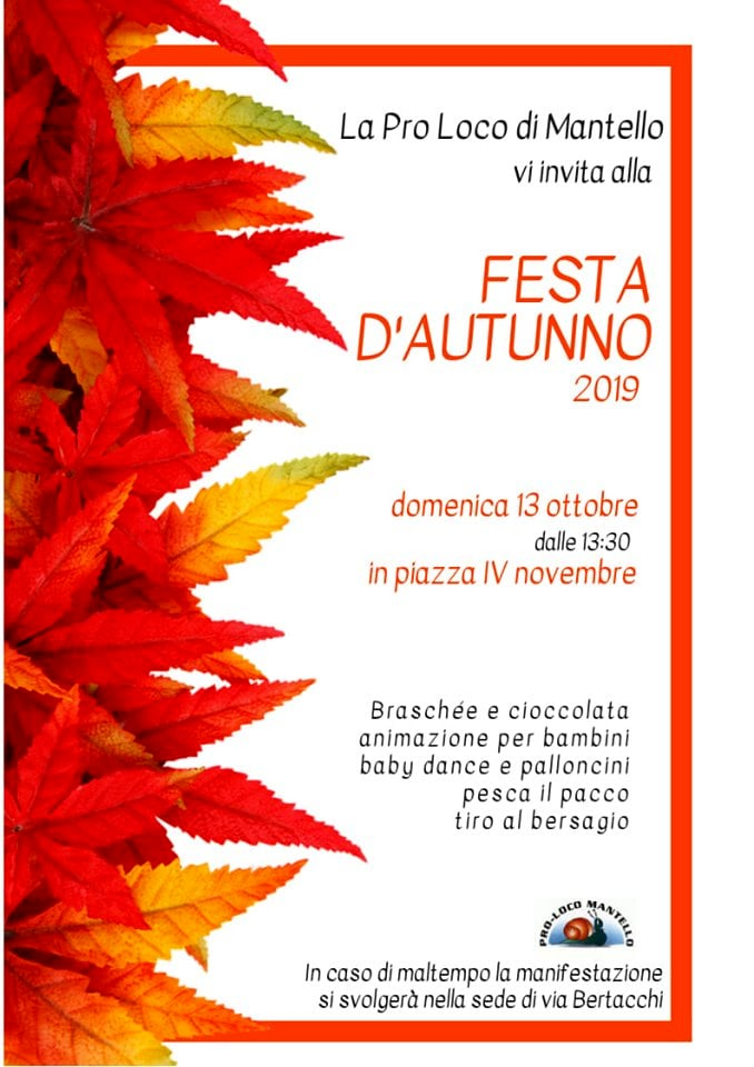 festa autunno mantello 2019-2