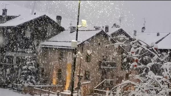 "La nevicata a Livigno (Immagini di ""Livigno is magic"", fb)"