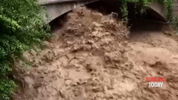 Maltempo, preoccupa il torrente Lesina a Delebio